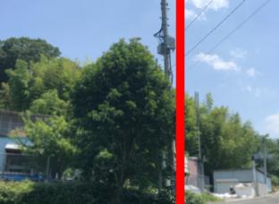 携帯基地局の修正工事